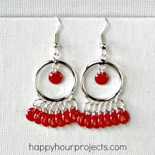 make your own tangerine chandelier earrings