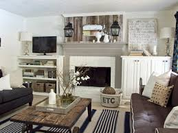 painting a fireplace white15 Gorgeous Painted Brick Fireplaces  HGTVs Decorating  Design