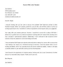 Counter Offer Letter Template Salary Negotiation Email