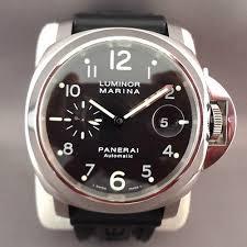 mint panerai luminor marina pam00164 steel black dial rubber 44mm mint panerai luminor marina pam00164 steel black dial rubber 44mm mens watch b p