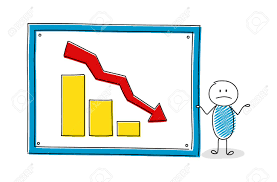 Chart Cartoon Funny Cartoon Character With Whiteboard And Business Chart Vector
