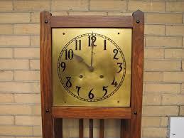 arts crafts grandfather clock f9982