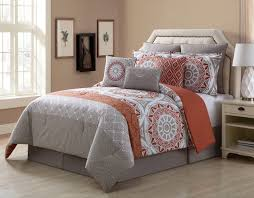 piece amber tealivory  cotton comforter set