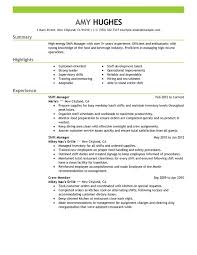 Unforgettable Shift Manager Resume Examples To Stand Out For Fast