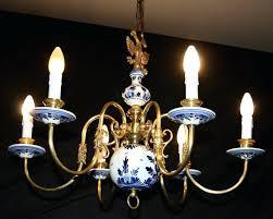 blue and white chandelier vintage blue delft chandelier hand painted white blue and white antique chandelier