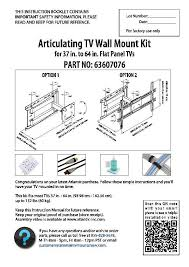 images of wall mount tv installation instructions full motion flat panel tv