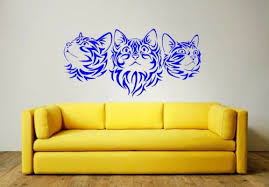 wall decals stickers tribal cats wall