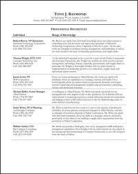 Refference Sheet Sample Job Search References Sheet