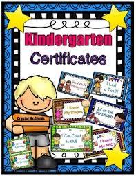 Kindergarten Milestone Award Certificates Tie My Shoes Know My