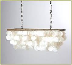 capiz shell chandelier rectangular home design ideas tutorial
