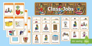 4th Grade Classroom Job Chart Books Classroom Jobs Pack Back To School Roles Chores