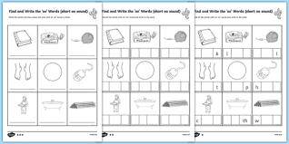 Free interactive exercises to practice online or download as pdf to print. Find And Write The Short Oo Sound Words Differentiated Worksheet Worksheet