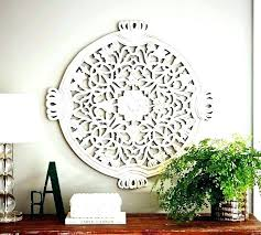 carved wall decor white wooden wood pier one best decorative panels and