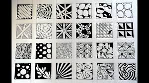 Zentangle Patterns Easy Cool Decoration