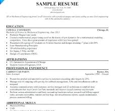 Sample Resume For Internships Resume Internship Sample Resume For