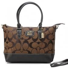 Coach Logo In Monogram Medium Coffee Totes BNZ
