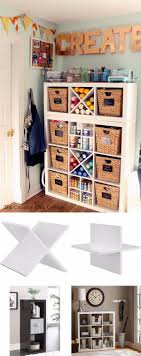 diy great craft room organizer made from existing cube storage and plank dividers