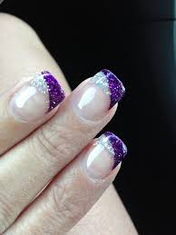 Pink Purple And Silver Nail Designs Solar Nails Bride Nails Purple Nail Designs Purple
