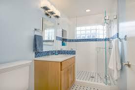 bathroom vanity san francisco. San Francisco Glass Block Windows Bathroom Traditional With Blue Mosaic Tile Xenon Vanity Lights