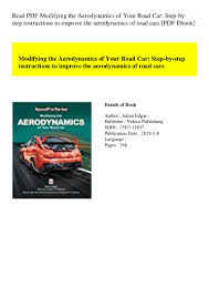 Road Vehicle Aerodynamic Design Rh Barnard Read Pdf Modifying The Aerodynamics Of Your Road Car Step By