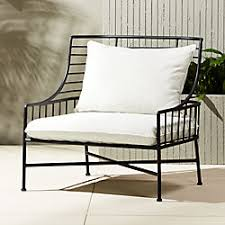 Outdoor metal chair French Breton Black Metal Chair The Home Depot Unique Outdoor Furniture And Decor Cb2