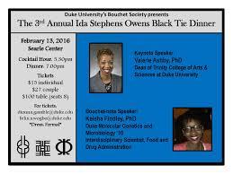 Duke Bouchet Society's 3rd Annual Ida Stephens Owens Black Tie Dinner |  Duke Chemistry