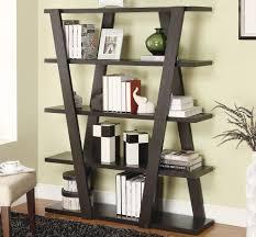 unique bookshelf   cabinet amp storage stylish solid wood