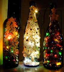 Decorative Wine Bottles Lights Charming Ideas Christmas Lights Wine Bottle Inside In Craft Diy 2