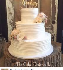 Rustic Buttercream Wedding Cake Cakecentralcom