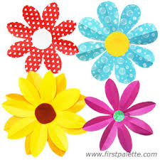 Paper Crafted Flowers Folding Paper Flowers Craft 8 Petal Flowers Kids Crafts