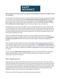 get free quotes from kaups insurance to compare and practical insurance coverage for home car by kaupsinsurances issuu