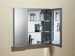 modern bathroom storage ideas. glass and stainless steel wall mounted modern bathroom storage cabinet with double door ideas