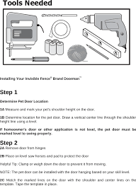 3001183 INVISIBLE FENCE BRAND DOORMAN User Manual Users Manual ...
