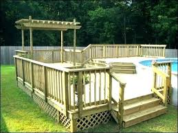 in ground pool deck plans. Beautiful Plans Free Above Ground Pool Deck Plans G On In O