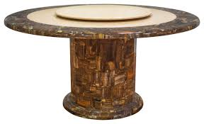 ivory round marble dining table with lazy susan dining tables by furniture import export inc