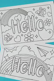 Free greeting card and envelope templates for kids to print out and craft into greeting cards for birthdays, mother's day, father's day, valentine's day, and other special occasions. Hello Cards Free Printable Greetings Cards For Kids Crafts On Sea Hello Cards Free Printable Cards Free Printable Greeting Cards