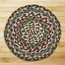 fir ivory round braided rug 4 x4 thumbnail