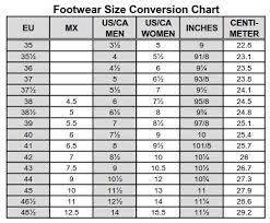 46 Hand Picked Footwear Conversion Chart