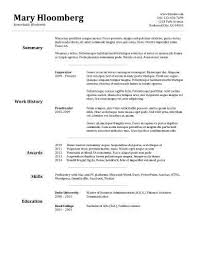Quick Resume Template 9 Image Gallery Of Bold Design Resumes On