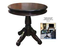 round accent tables elegant small dark wood side table impressive