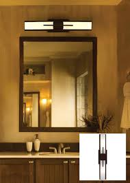 contemporary bathroom with bronze and translucent glass light fixture