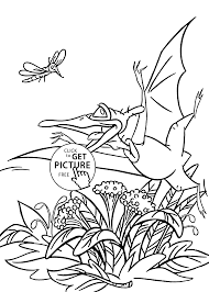 Small Picture Pteranodon Petrie from Land before time coloring pages for kids