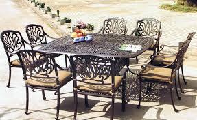 Decoration Piece Cast Aluminum Patio Dining Set SEATS And Metal Metal Outdoor Patio Furniture Sets