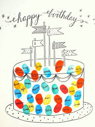 free printable photo birthday cards free printable fingerprint birthday cards pink stripey socks