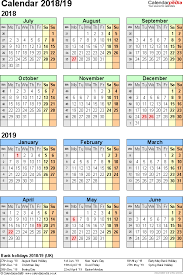 Fiscal Calendar 2019 Jan – Dec | Calendar Template