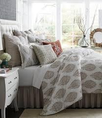 studio d vara floral  peacock medallion cotton  linen comforter