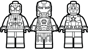 Lego Avengers Coloring Pages Design Templates