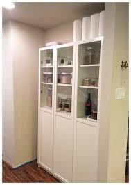 easy diy freestanding pantry with doors