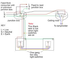 two way light switch method 2 2 way intermediate lighting circuit wiring diagram two way lighting circuit using junction boxes