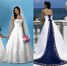 a line satin wedding dress. discount white and blue a line satin wedding dresses arabian bandage women embroidery strapless bridal gowns elegant court train beach gownzc dress